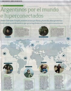 Argentineans around the world - published June 6, 2014 in La Nación