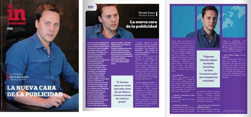 Nico Casco, CEO de Darriens en la tapa de InfoNegocios