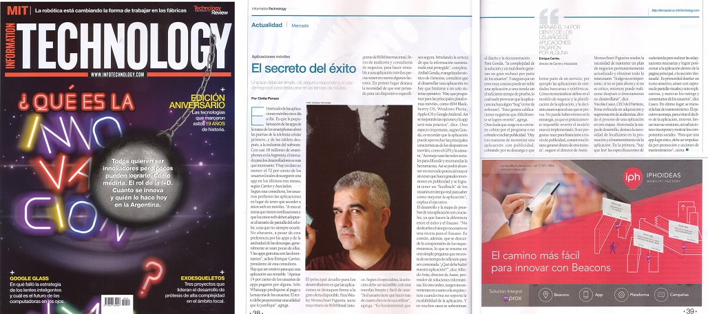 Information Technology, Argentina{s most impotant tech magazine.